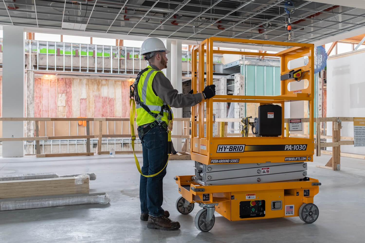 Hy-Brid PA-1030 Push-Around Mobile Elevating Work Platform