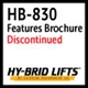HB-830 Features and Benefits