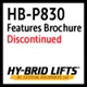 HB-P830 Features and Benefits